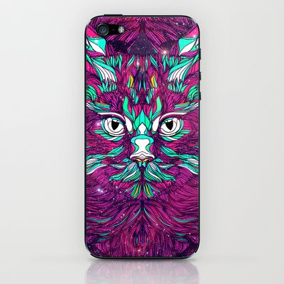 Space Cat (Feat. Bryan Gallardo) iPhone & iPod Skin by Danny Ivan - $15.00