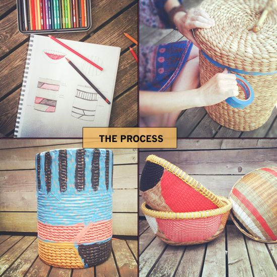 painted baskets to make