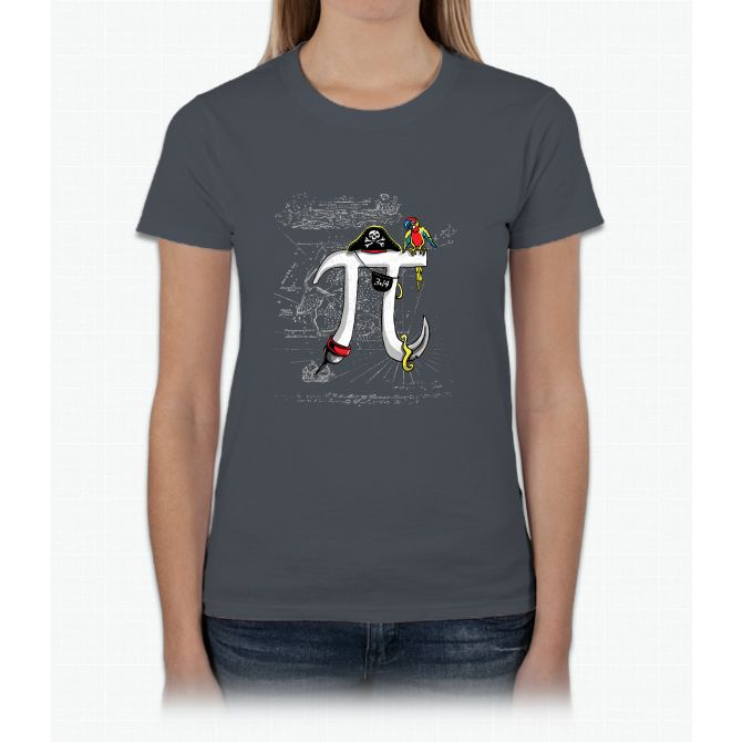 Good Pi Gone Bad Pirate Pi Symbol Womens T Shirt Products