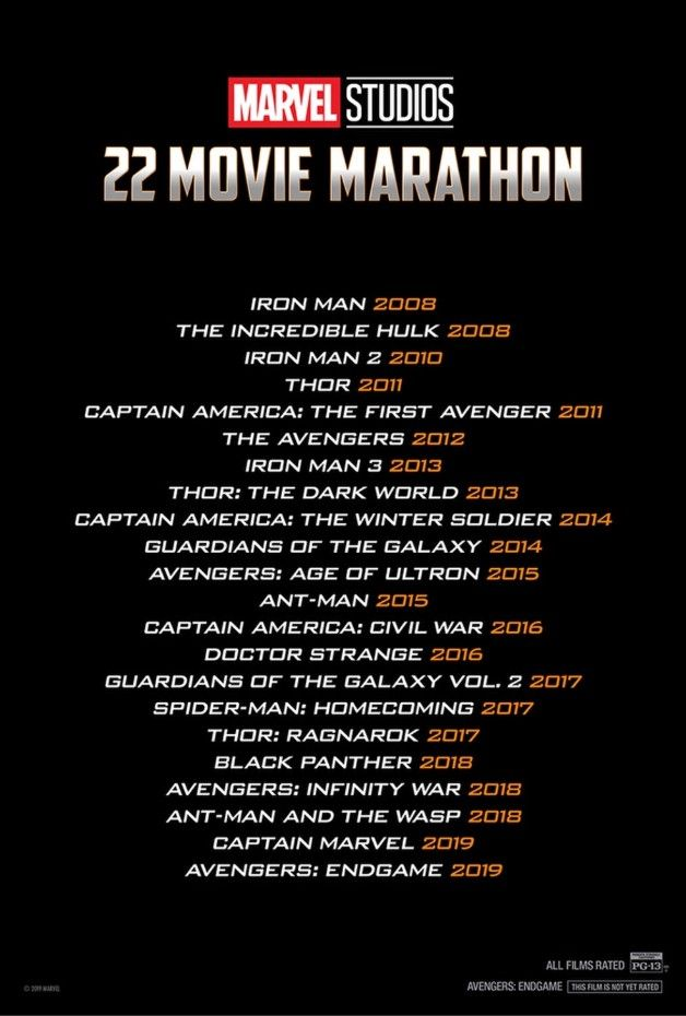 Super Long Marvel Cinematic Universe Movie Marathon Coming To Theaters Marvel Movies List Marvel Movies In Order Movie Marathon