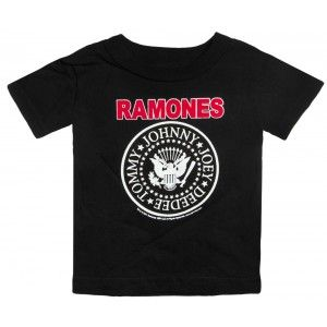RAMONES KIDS TEE Our classic Ramones kids tee with white and red traditional Ramones logo. $22.00