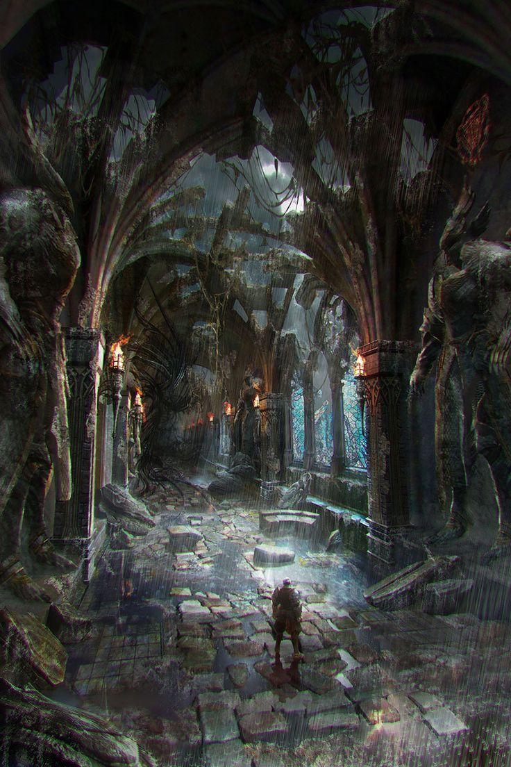 old castle corridor, silentfield . on ArtStation at https://www.artstation.com/artwork/old-castle-corridor