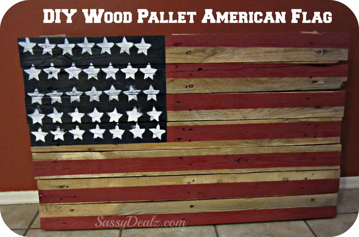 Diy how to make an american flag out of a wood pallet step by step tutorial w pictures - American flag pallet art ...