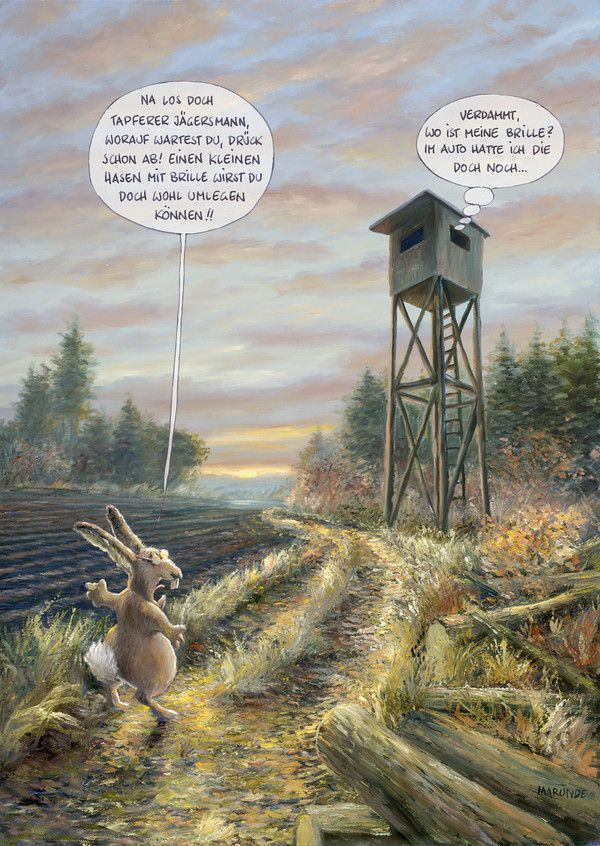 Jagd-MARUNDE   Cartoons & Illustrationen von Wolf-Rüdiger Marunde