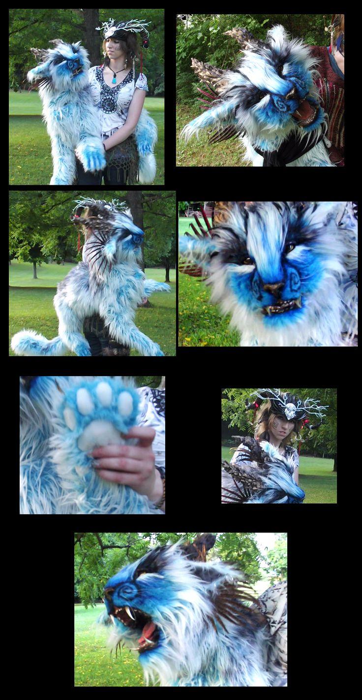 LIFE SIZED Fantasy Blue Tiger Puppet! Video! by Wood-Splitter-Lee on deviantART
