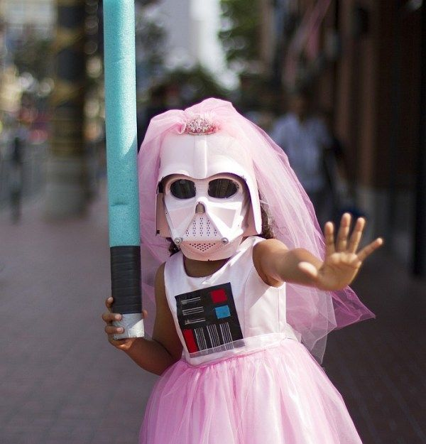 Pink Darth Vader ComiCon cosplay - for Tabitha