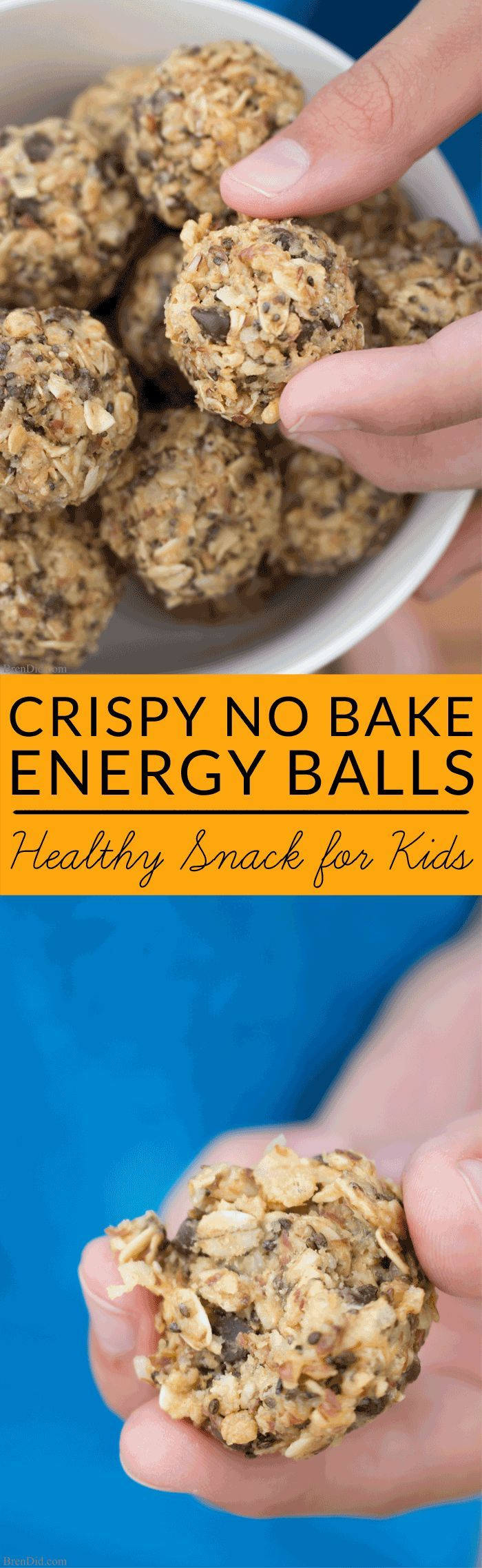 Crispy energy balls are a kid pleasing snack that is low in sugar and calories but high in iron, fiber and protein. Try this easy, no bake recipe today.