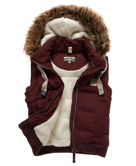 Superdry Copper Label Gilet. DIY with polar fleece, Sherpa and faux fur.