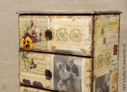 """Шкатулки ручной работы. Ярмарка Мастеров - ручная работа Шкатулка """"Старые письма"""". Handmade."""