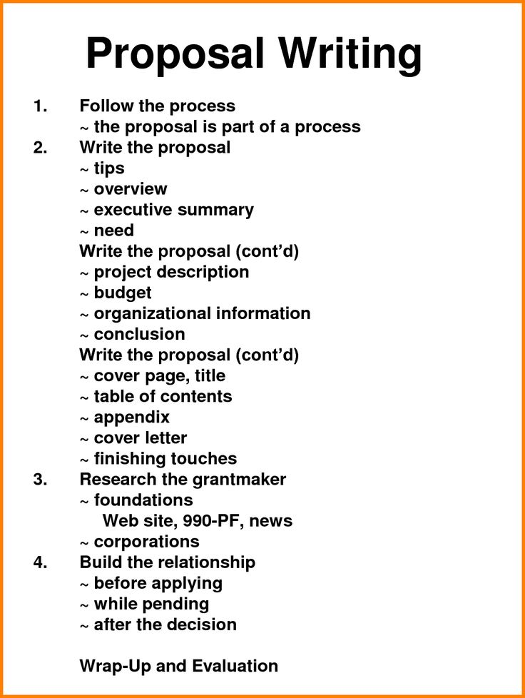 Best Writing A Proposal Ideas On How To Write