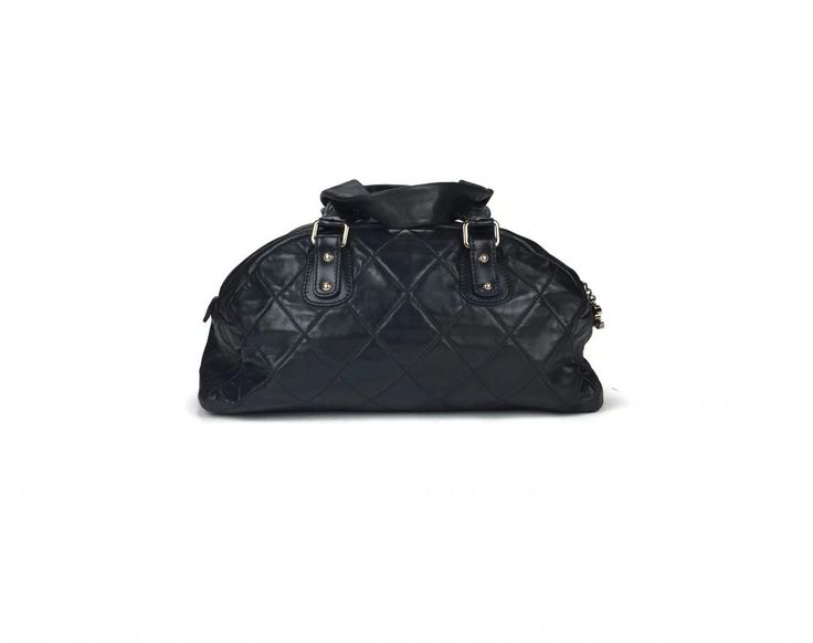 Chanel Large Quilted Leather Bowling Bag