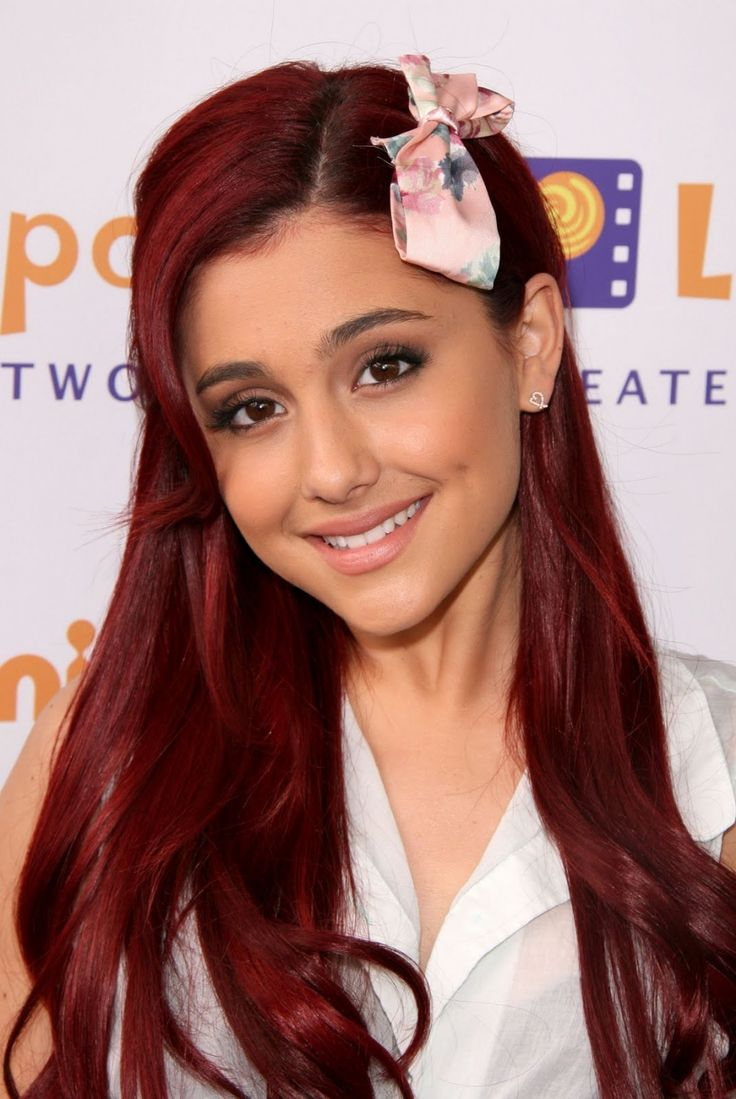 ariana grande with red hair | Ariana Grande | Hollywood Celebrities Wallpapers