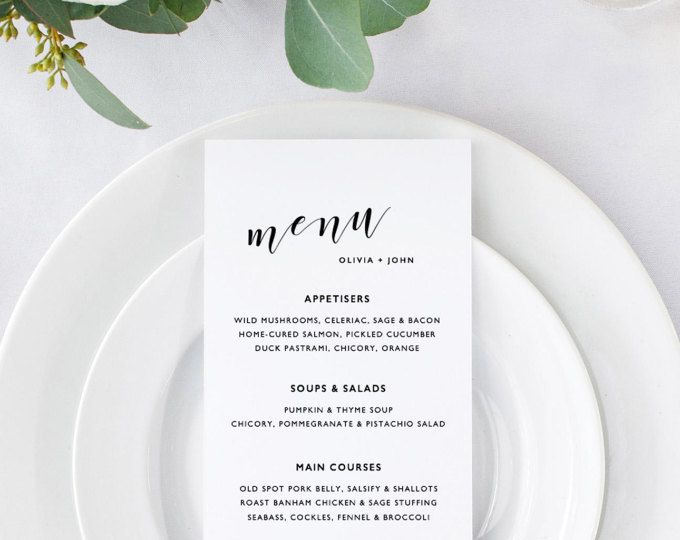 25 best ideas about wedding menu template on pinterest wedding