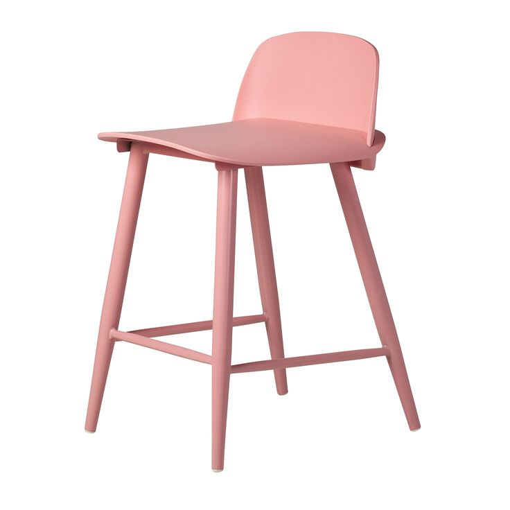 Nerd Replica Counter Stool in Pink, The Khazana is a furniture store located in Austin, Texas.