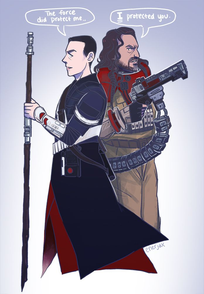 ✦ ✦ ✦ ✦ ✦ Shout out to Chirrut and Baze,, best Rogue One combo ✦ ✦ ✦ ✦ ✦