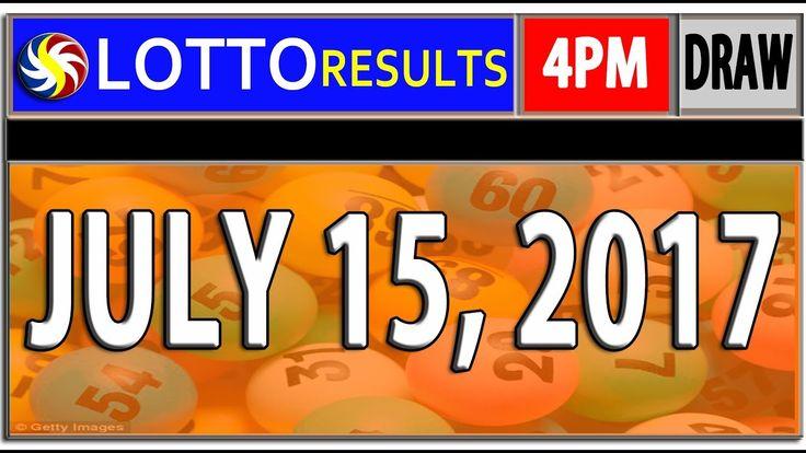 PCSO 4PM LOTTO RESULTS JULY 15, 2017 (SWERTRES & EZ2 LOTTO)