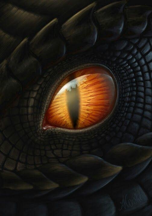 Фото анимация глаза дракона