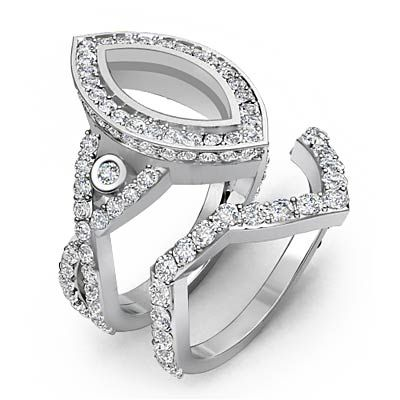 images of 2 carat marquis diamond rings | Ct Marquise Diamond Engagement Ring Bridal Sets 14k White Gold ...