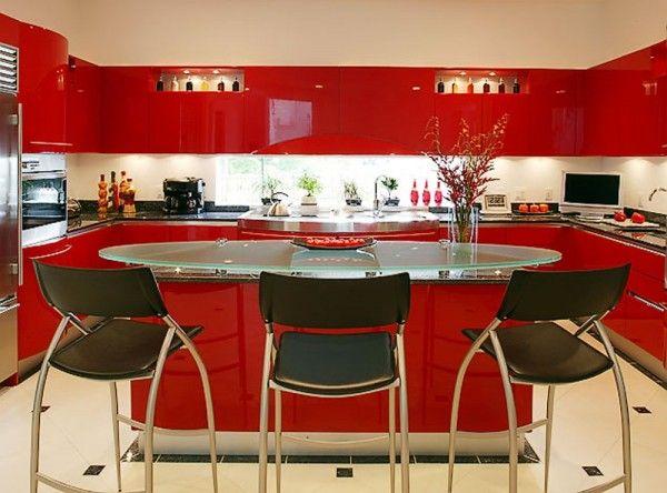 Red Modern Kitchen Snaiderousa