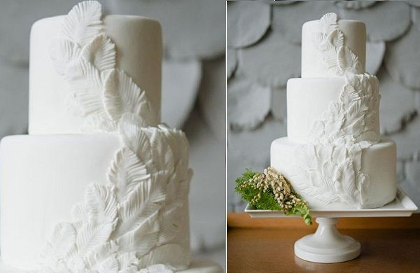 17 Best Images About Boho Wedding Cakes With Feathers On Pinterest