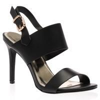 Buy Tabby Black Heeled Sandals £14.99 from Women's Sandals range at…