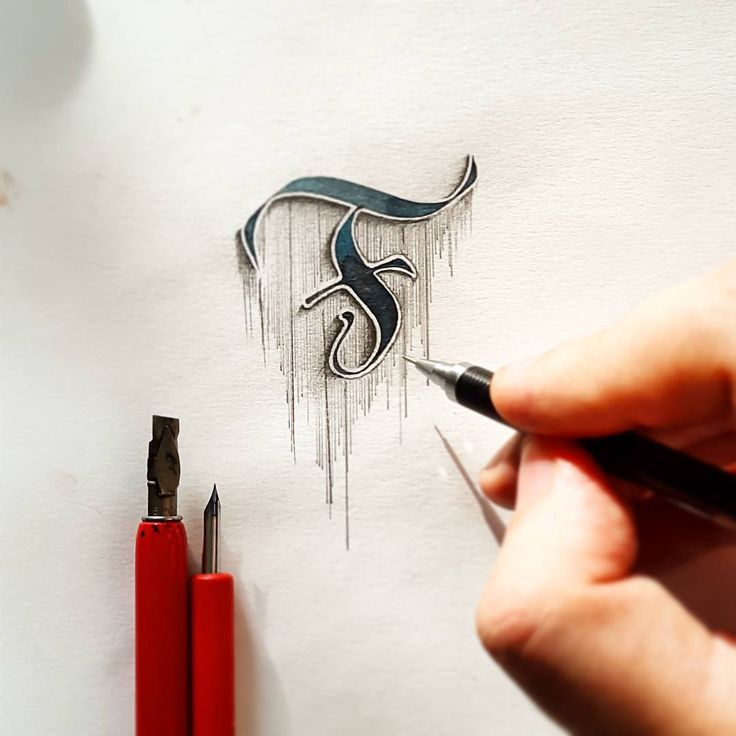 "4,630 Likes, 53 Comments - Tolga Girgin (@tolgagirgin99) on Instagram: ""Gothic style letter 'F' design with a little pencil touches. #calligraphy #calligraffiti…"""