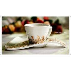 "Set cana si farfurie cappuccino - ""Magic - gift set"""