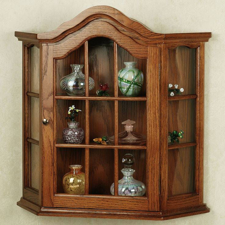 Inspirational Wall Mounted Corner Curio Cabinet