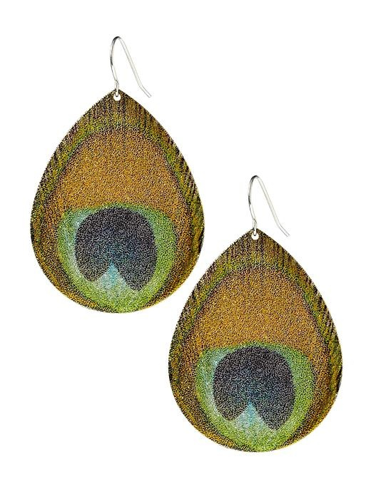 Peacock Print Earring