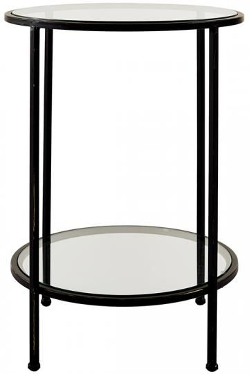 Bella Glass End Table - End Tables - Side Tables - Glass End Table - Metal End Table | HomeDecorators.com
