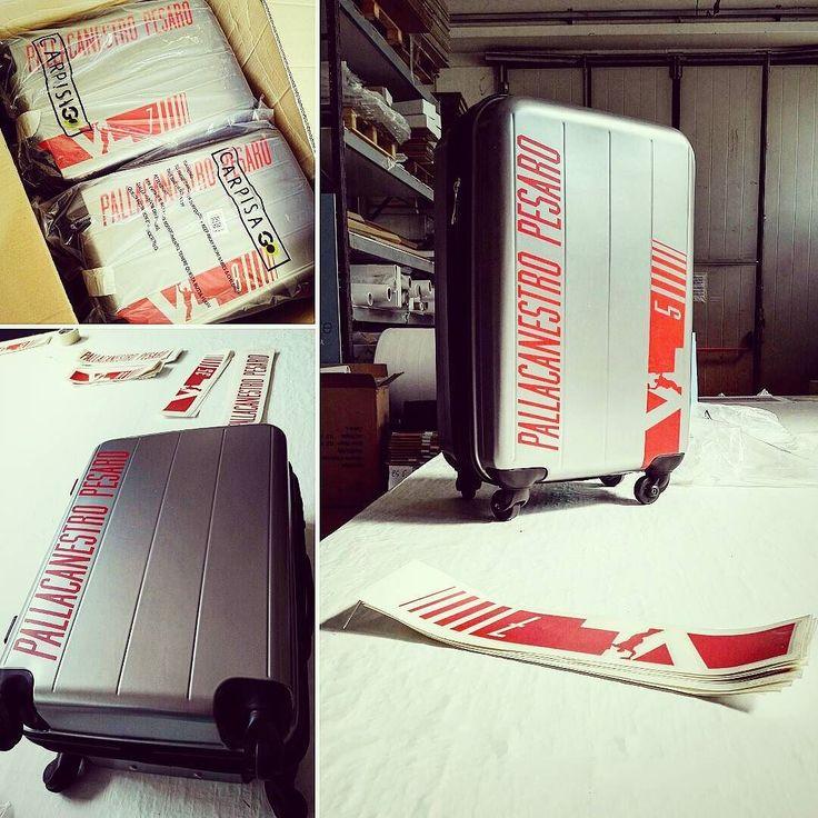 #personalizzazione trolley in corso... #stampa #digitale #pesaro #vuelle #VLchiamò #basket #vuellepesaro