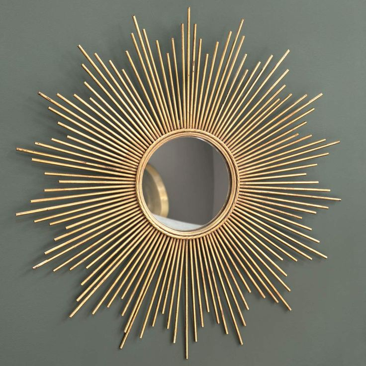 Miroir en métal doré H 99 cm MAGELLAN
