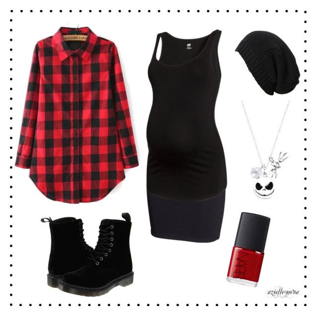 azielle-nova [6] by azielle-nova on Polyvore featuring polyvore fashion style H&M Dr. Martens Disney AllSaints NARS Cosmetics clothing grunge maternity
