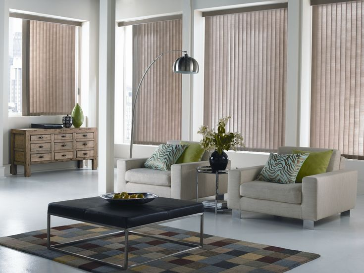 Contemporary Vertical blinds for living room window treatments