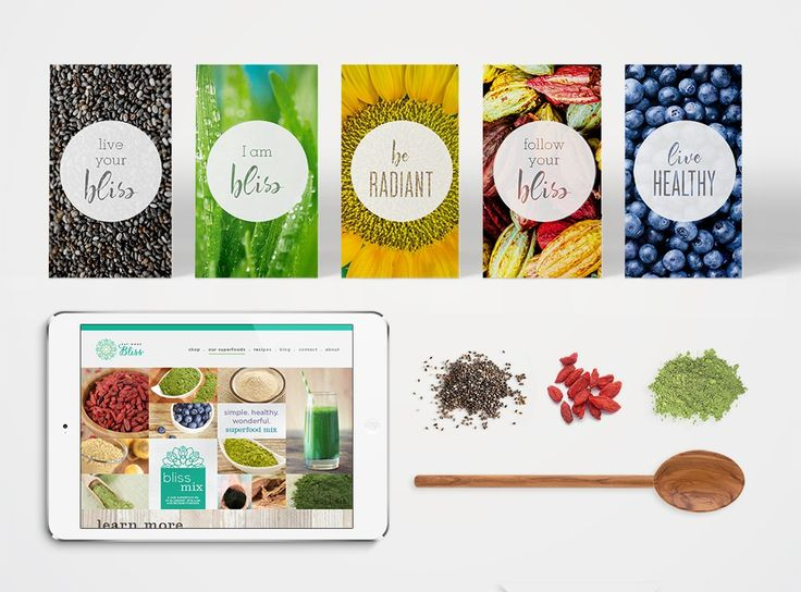 Professional brand design for Eat More Bliss Healthy