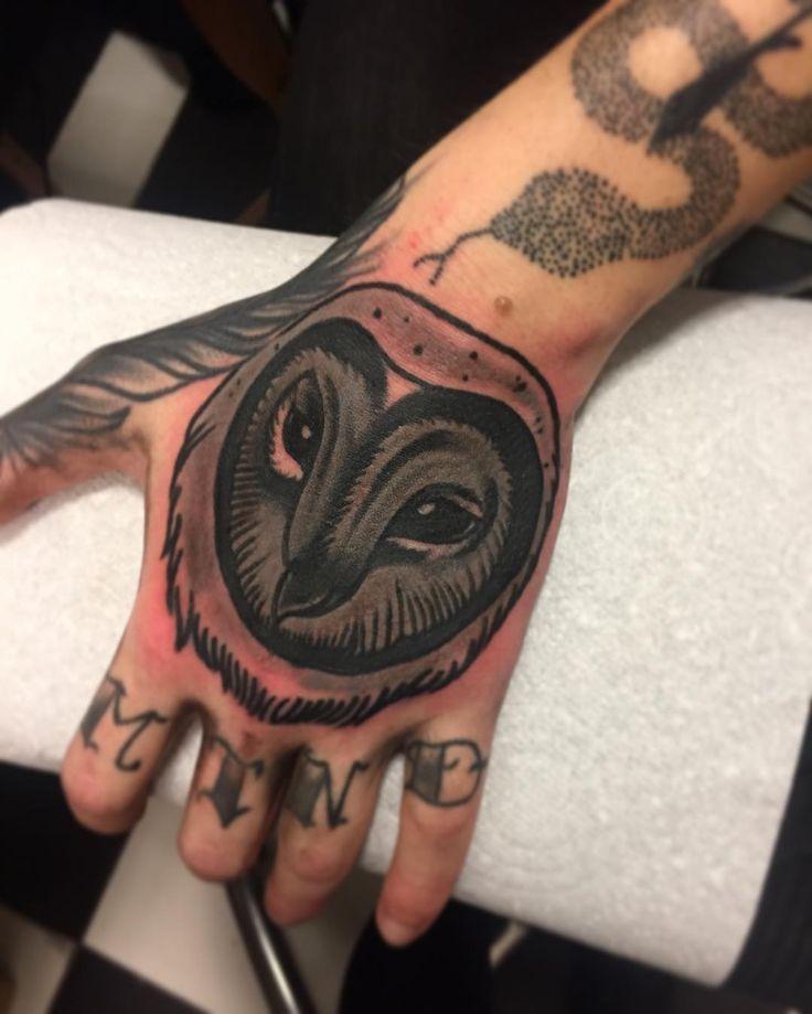 Barn owl by Courtney Lloyd (@ courtneylloydtattoos)