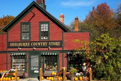 Shelburne, VT  -what a fun place to explore, they have all kind of neat VT things: from fudge to table lines, soap to books, music to candles, and more...