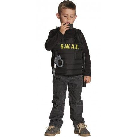 Déguisement gilet SWAT enfant avec accessoires policier