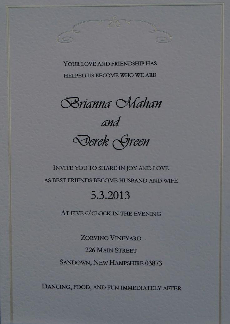 45 best Invitation wording images on Pinterest | Wedding, Weddings ...