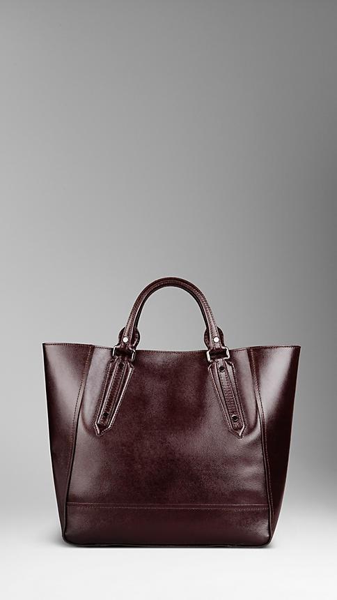 Burberry - Large London Leather Portrait Tote Bag