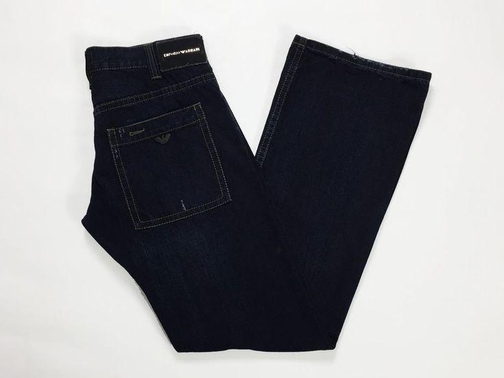 Emporio Armani jeans W32 L34 tg 46 loose gamba larga usato boyfriend uomo T1347