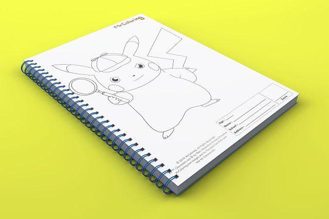 Printable Pokemon Detective Pikachu Coloring Page pdf ...