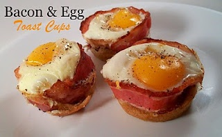 egg cups!Farms Girls, Bacon Eggs, Eggs White, Toast Cups, Breakfast, Food, Muffins Tins, Eggs Cups, Eggs Toast