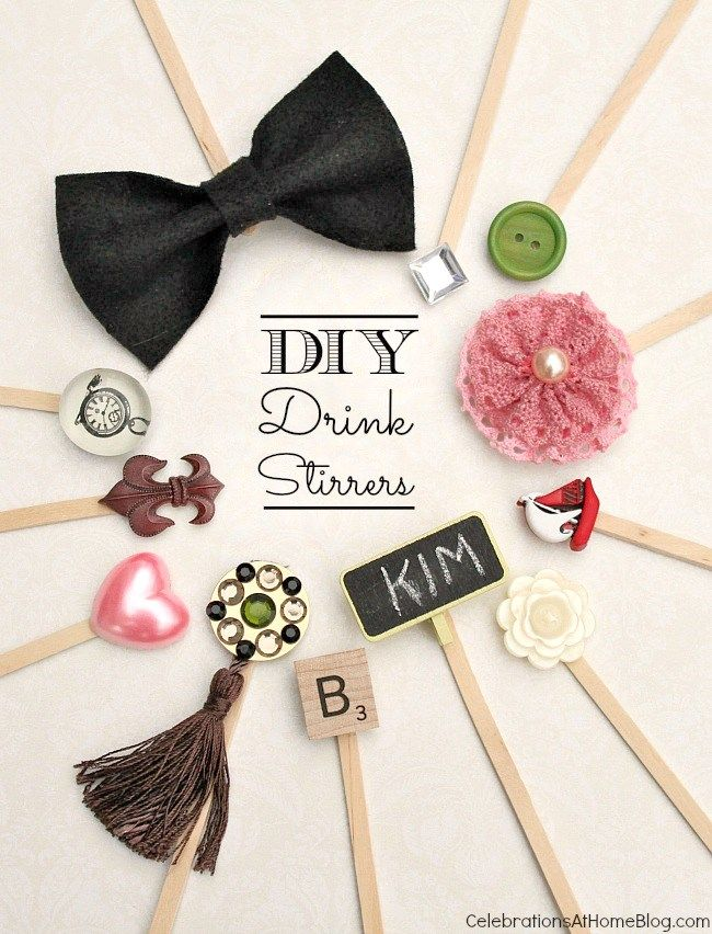 Make Your Own Drink Stir Sticks
