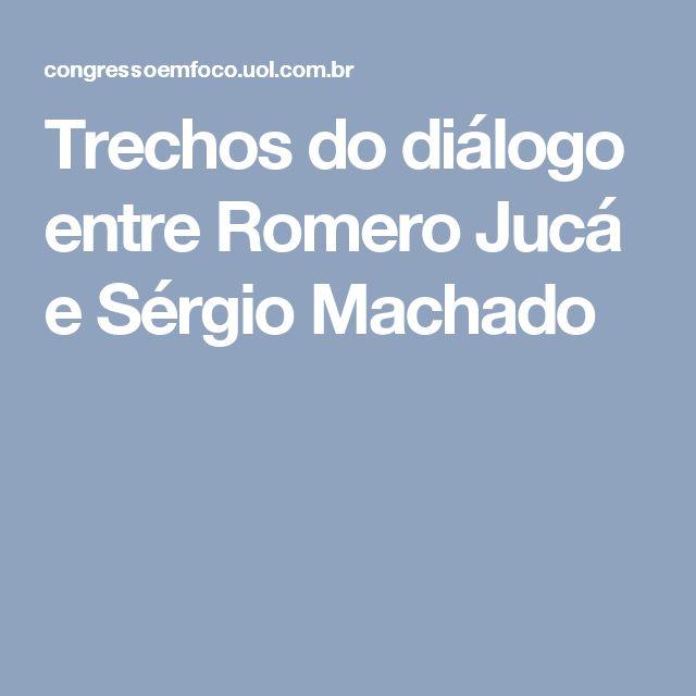 """Em uma das falas – interceptadas em março, semanas antes da votação do impeachment na Câmara –, o senador sugeriu a Sérgio Machado que uma """"mudança"""" no governo federal, com a saída de Dilma Rousseff da Presidência, resultaria em um pacto para interromper prisões da Lava Jato. Jucá disse ainda que a resposta a ser dada ao avanço da operação tinha de ser política, para evitar que o caso envolvendo a cúpula do PMDB caísse nas mãos do juiz federal Sérgio Moro."""