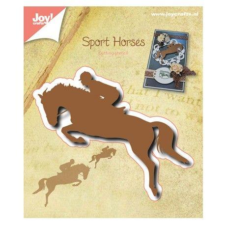 Die Découpe Joy Crafts Scrapbooking Motif Dessin Animaux Cheval Cavalier Equitation sport