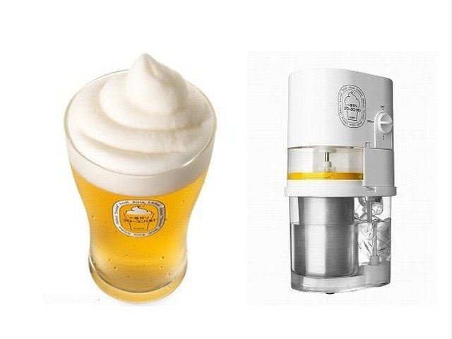 Top off a pint of beer with a frozen beer foam that acts like an insulation cap to keep the beer cold. That's how you make a Frozen Beer Slushie. GetdatGadget.com/frozen-beer-slushie-maker-makes-slushies-real-men/