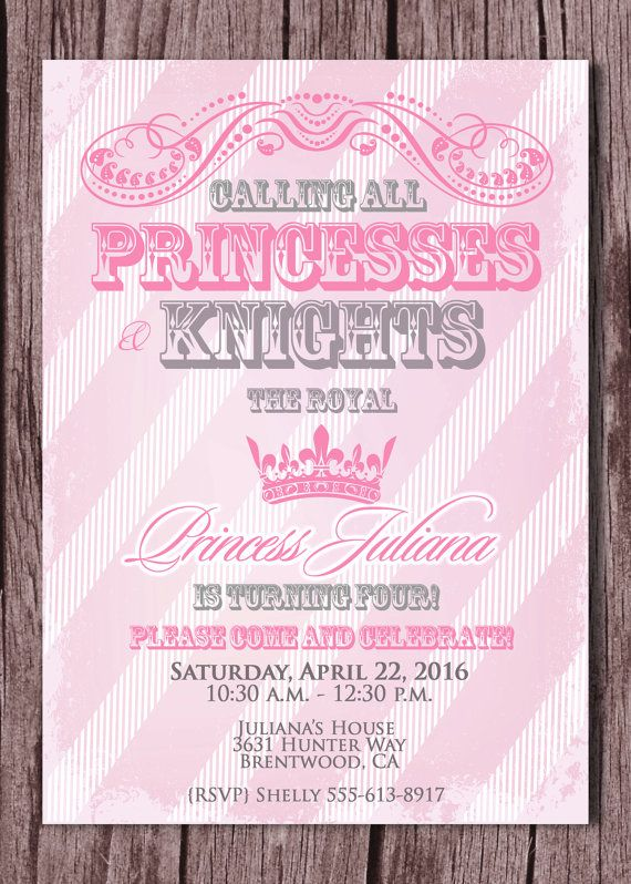25 best ideas about Princess party invitations – Princess Party Invitation Ideas