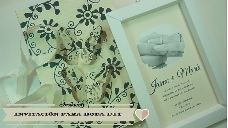 Manualidades: INVITACIÓN para BODA DIY ♥ Sor Amparo Arredondo R.