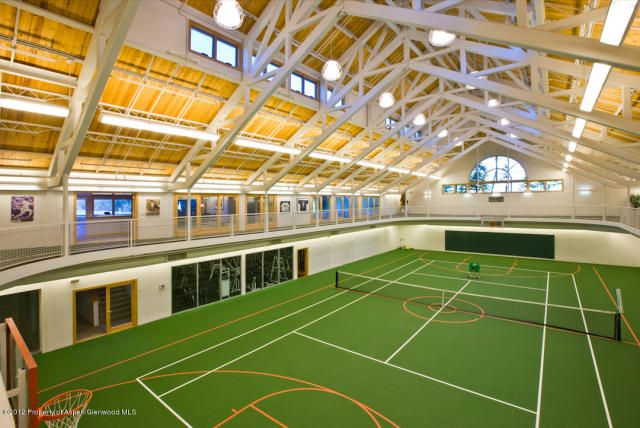 161 best gym images on pinterest for How many square feet is a basketball court